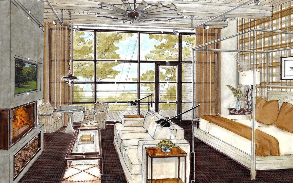 The Bradstan Hotel room rendering